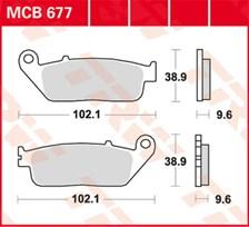 TRW Plaquettes de frein SRQ  MCB677SRQ
