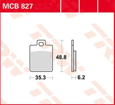 TRW Plaquettes de frein organique EC MCB827EC