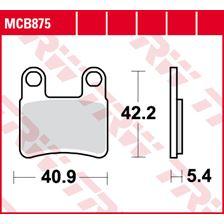 TRW Plaquettes de frein organique MCB875P