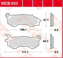 TRW Plaquettes de frein métal fritté SRM MCB833SRM