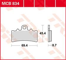 TRW Plaquettes de frein SV/SH MCB834SV