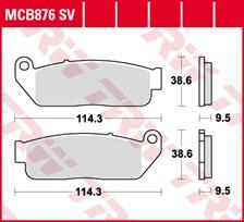 TRW Plaquettes de frein SV/SH MCB876SV