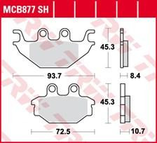 TRW Plaquettes de frein SV/SH MCB877SH