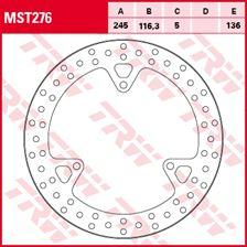 TRW MST disque de frein fixe MST276