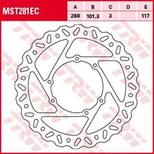 TRW EC disque de frein offroad MST281EC