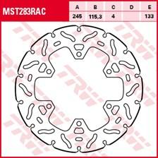 TRW MST disque fixe avec RAC design MST283RAC
