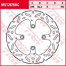 TRW MST disque fixe avec RAC design MST287RAC