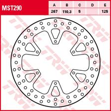 TRW MST disque de frein fixe MST290