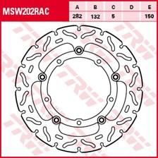 TRW MSW disque de frein flottant RAC design MSW202RAC