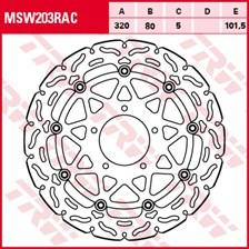TRW Disque de frein MSW203RAC
