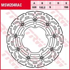 TRW MSW disque de frein flottant RAC design MSW204RAC