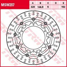 TRW MSW Zwevende remschijf MSW207