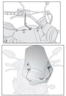 GIVI Kit de montage pour bulle A7407A