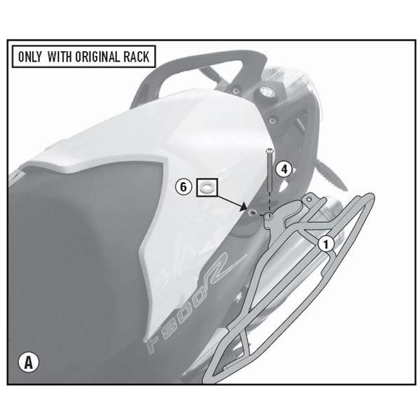 GIVI Zijtasbeugels met easy lock bevestiging TE5118