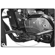GIVI Crash bars en acier bas du moteur TN1142