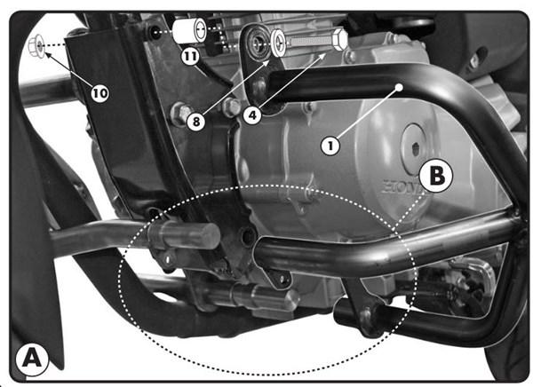 GIVI Stalen valbeugels onderzijde motor TN1142