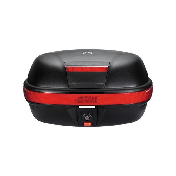 GIVI E460 top case reflecteurs rouges