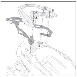 GIVI Support topcase Monolock - SR