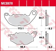 TRW Plaquettes de frein organique MCB878