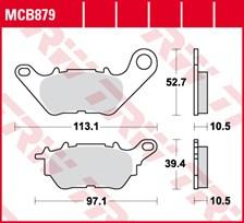 TRW Plaquettes de frein organique MCB879
