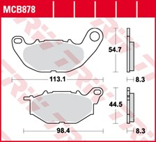 TRW Plaquettes de frein SRQ  MCB878SRQ