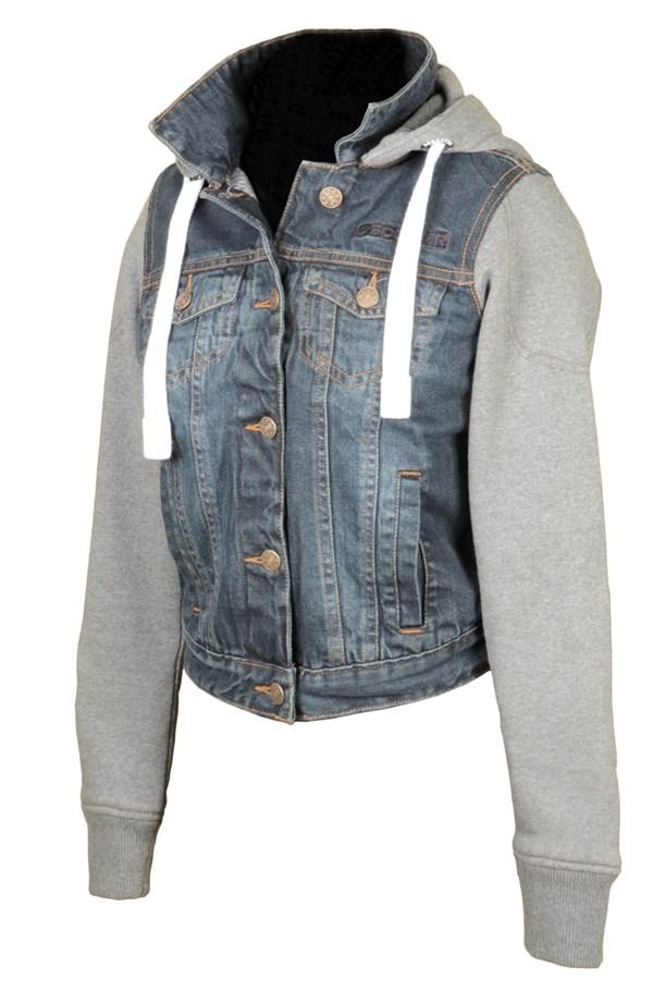 BOOSTER Hoodie jacket Denim Lady denim / gris
