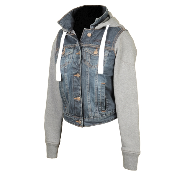 BOOSTER Hoodie Jacket Denim Lady Denim-Gris