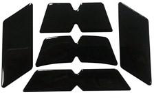 Helm reflecterende stickerset zwart