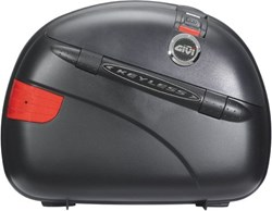 GIVI : E41 Keyless zijkoffers - rode reflectoren, zwarte cover