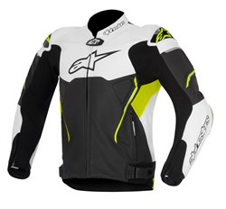 ALPINESTARS : Atem jacket - Zwart-Wit-Fluo Geel