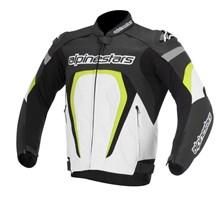 ALPINESTARS Motegi jacket Zwart-Wit-Fluo Geel