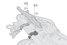 GIVI Kit 'sans support top case' PLR/PLX(R) 1146KIT