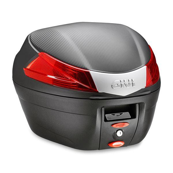 GIVI B34 topkoffer rode reflectoren, zwarte cover