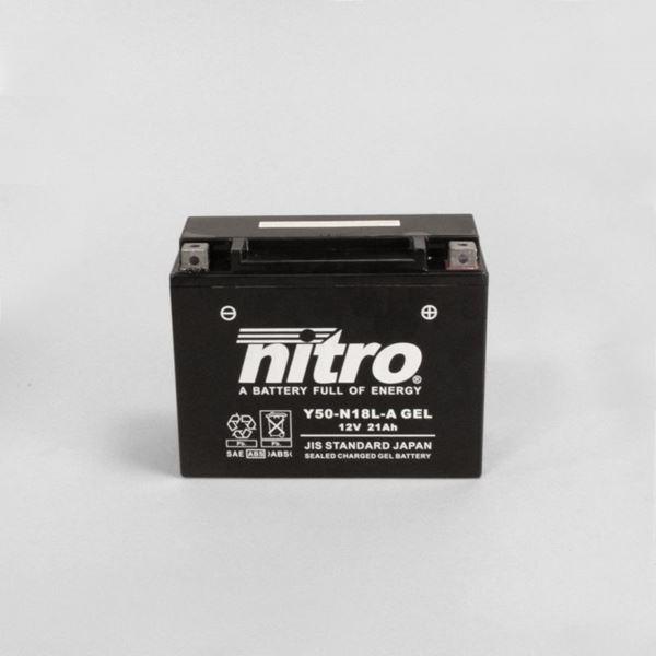 NITRO Batterie fermée sans entretien Y50-N18L-A-GEL