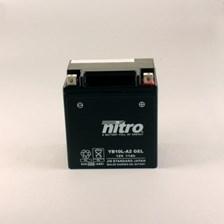 NITRO Gesloten batterij onderhoudsvrij YB10L-A2-GEL