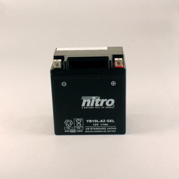 NITRO Batterie fermée sans entretien YB10L-A2-GEL