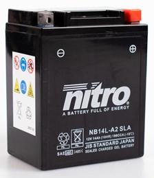 NITRO Gesloten batterij onderhoudsvrij YB14L-A2-GEL