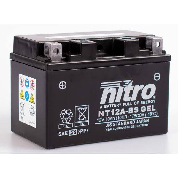 NITRO Batterie fermée sans entretien YT12A-BS-GEL