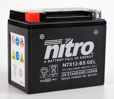 NITRO Batterie fermée sans entretien YTX12-BS-GEL
