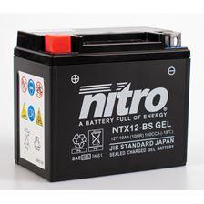 NITRO Gesloten batterij onderhoudsvrij YTX12-BS-GEL