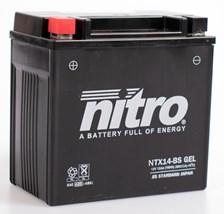 NITRO Gesloten batterij onderhoudsvrij YTX14-BS-GEL