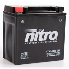 NITRO Batterie fermée sans entretien YTX14-BS-GEL