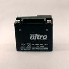 NITRO Gesloten batterij onderhoudsvrij YTX20L-BS-GEL