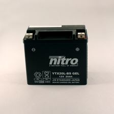NITRO Batterie fermée sans entretien YTX20L-BS-GEL