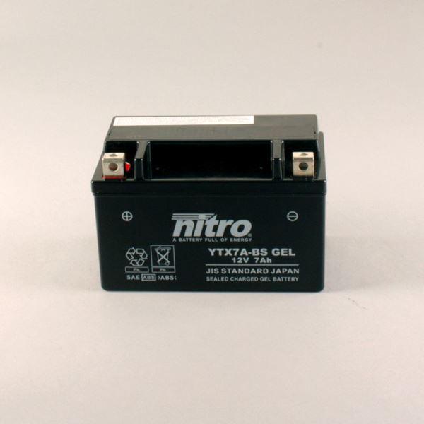 NITRO Gesloten batterij onderhoudsvrij YTX7A-BS-GEL