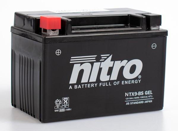 NITRO Gesloten batterij onderhoudsvrij YTX9-BS-GEL
