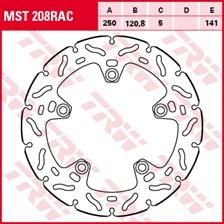 TRW MST disque fixe avec RAC design MST208RAC