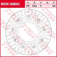 TRW MSW zwevende remschijf RAC design MSW208RAC