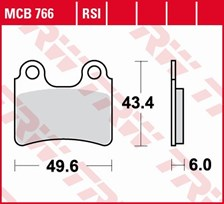 TRW Plaquettes de frein RSI MCB766RSI