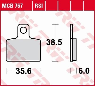 TRW Plaquettes de frein RSI MCB767RSI